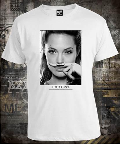 Футболка Angelina Jolie Life is a Joke