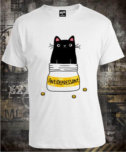 Футболка Antidepressant Cat