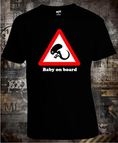 Футболка Baby On Board Alien