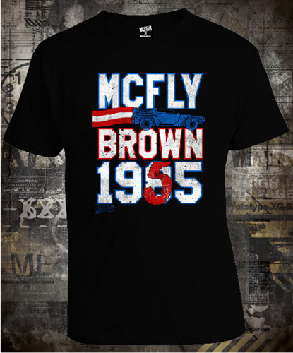 Футболка Back To The Future Mcfly Brown Ticket