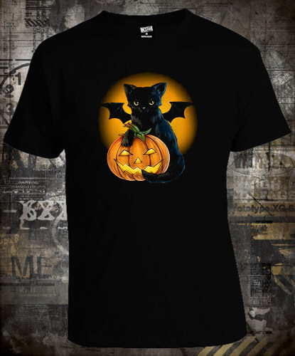 Футболка Bat Cat Halloween