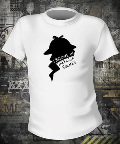Футболка Believe in Sherlock Holmes
