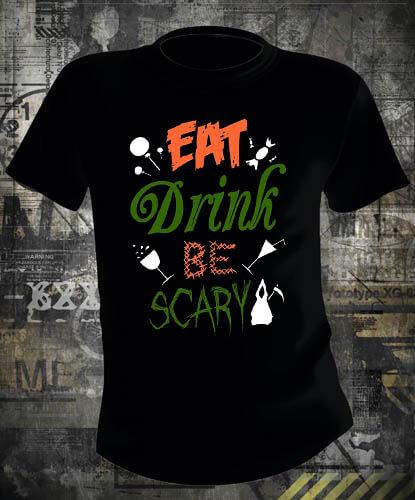 Футболка Halloween Eat Drink Be Scary