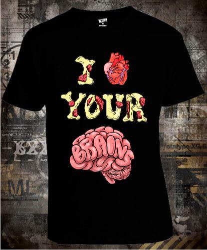 Футболка I Love Your Brains