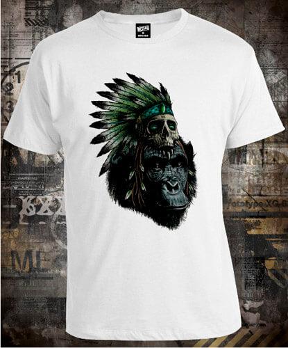 Футболка Monkey With Skull