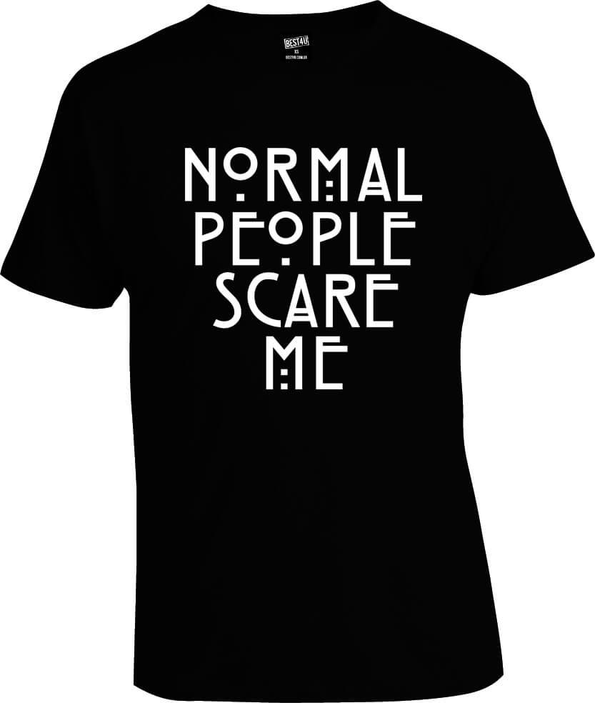 Футболка Normal People Scare Me 2