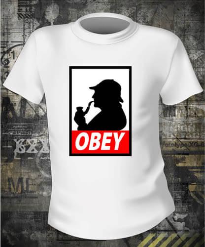 Футболка Obey Sherlock Holmes
