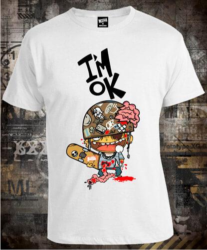 Футболка Skateboard I Am Ok