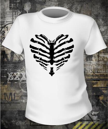 Футболка Skeleton heart