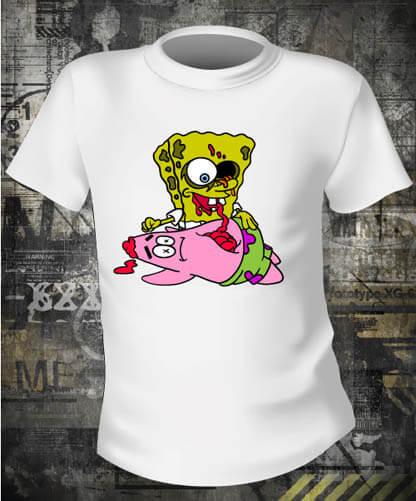 Футболка Sponge Bob Zombie
