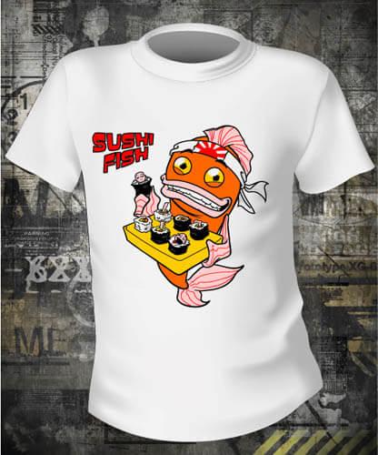 Футболка Sushi Fish