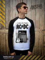 Футболка AC/DC In Rock We Trust Guitars White-Black