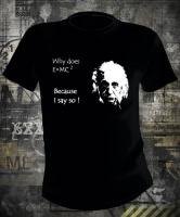 Футболка Albert Einstein Why муж L