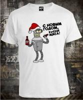 Футболка Bender Futurama С Новым Годом