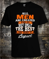 Футболка Best Men are Born in August