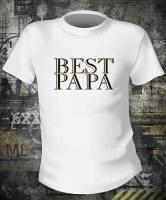 Футболка Best Papa муж S