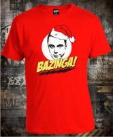 Футболка Big Bang Theory Bazinga Sheldon New Year
