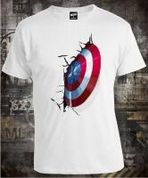 Футболка Captain America Shield On Wall