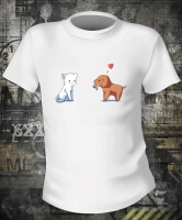Футболка Cat And Dog Love