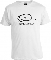 Футболка Cat I Can't Adult Today