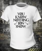 Футболка Game Of Thrones You Know Nothing Jon Snow  жен S