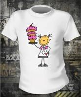 Футболка Girl With Cake