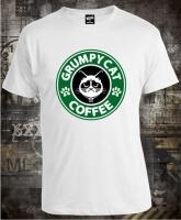 Футболка Grumpy Cat Coffee