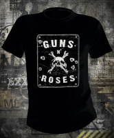Футболка Guns N Roses Skull & Bullet Holes
