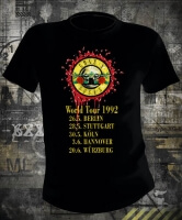 Футболка Guns N Roses World Tour 92