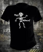 Футболка Happy Halloween Skeleton