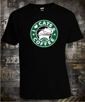 Футболка I Love Cats and Coffee