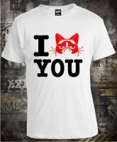 Футболка I Love Grumpy Cat