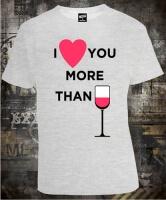 Футболка I Love You More Than Vine