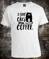 Футболка I like Cats and Coffee