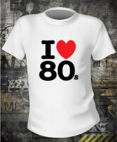 Футболка I love 80s