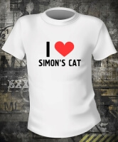 Футболка I love Simon's Cat