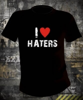 Футболка I love haters