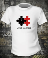 Футболка Just married puzzle