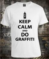 Футболка Keep Calm And Do Graffiti