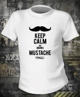 Футболка Keep Calm And Grow A Mustache