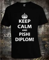 Футболка Keep Calm And Pishi Diplom