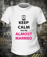 Футболка Keep Calm You Are Almost Married