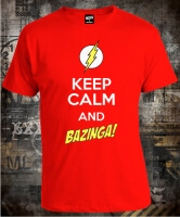 Футболка Keep Calm and Bazinga Big Bang Theory