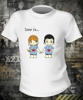Футболка Love is Boy and Girl Color