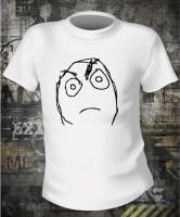 Футболка Meme angry frown