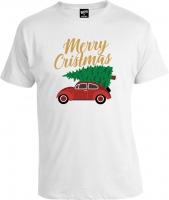 Футболка Merry Christmas Car
