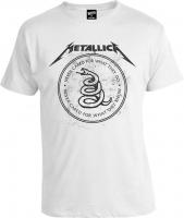Футболка Metallica Black Album Never Cared White Snake