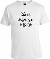 Футболка Mr. Right And Mrs. Always Right