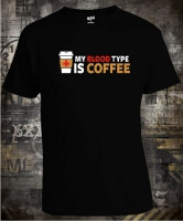 Футболка My Blood Type is Coffee