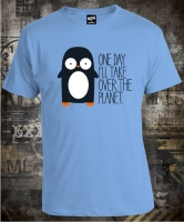Penguin Over the Planet
